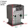 S1702 / HP21 rear view Measurements