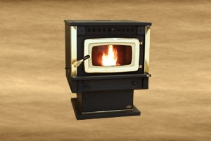 Pellet Stove Black Door S2505B